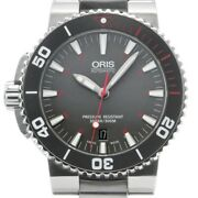 Free Shipping Pre-owned Oris Aquis Red Limited 01 733 7653 4183-set Mb