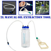 2 L Car Motorcycle Oil Fluid Extractor Vacuum Tubing Pump Transfer Remover Tank