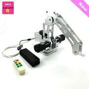 4 Axis Robotic Arm Robot W/geared Motors Closed Loop Arm Frame +control Kit Tzt