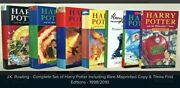 Harry Potter Books - Full Set With Rare Misprinted Copy And Three First Editions