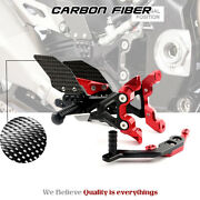 Cnc And Carbon Fiber Adjust Rearset Footrest Footpegs Pegs Fo Mw S1000rr 2019-2020
