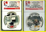 2015 Canada 2 Oz. Colorized Silver Looney Tunes 2 Coin Original Set Ngc Pf 70 Uc