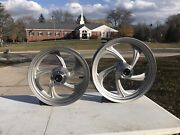 New Oem Nos Victory Polaris Silver Cast Wheel Rim Set Vision Cross Country Road