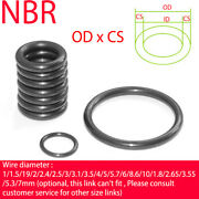 Nitrile Rubber O-ring Cs 2.5mm Nbr Oring Seal Sealing Od 9mm-250mm Oil Resistant