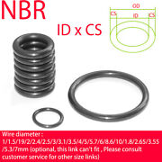 Nitrile Rubber O-ring Cs 2.65mm Nbr Oring Seal Sealing Id 6.9- 450 Oil Resistant