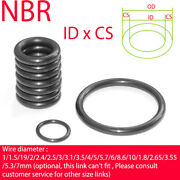 Nitrile Rubber O-ring Cs 3.55mm Nbr Oring Seal Sealing Id 5 -405mm Oil Resistant