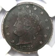 1885 Liberty Nickel 5c - Ngc Vf Details - Rare Key Date Certified Coin