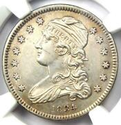1834 Capped Bust Quarter 25c Coin - Certified Ngc Uncirculated Details Unc Ms
