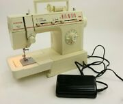 Vintage Singer Merritt Deluxe Sewing Machine 4530 With Foot Pedal Manual As Is