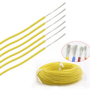 8 30awg Silicone Cable Flexible Wire Ul 0.08mm Yellow Rc 2000v Hv Wires Vw-1