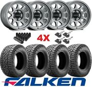 Trd Titanium Method Wheels Rims Tires 285 70 17 At3 Falken Set Mr316