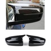 1 Pair For Bmw View Side Mirror Cover Case Trim Style Car Rearview Mirror Cover
