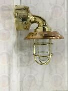 Outdoor Antique Exterior Solid Brass Wall Light Fixture With Junction Box 10 Pcs