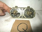 Antique 2 Burner Brass Gas Stove Adjustable Open Close Valve Assy And Faceplate