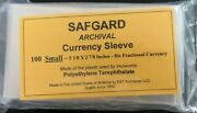 100 Us Fractional Currency Paper Money Holders Archival Quality Sleeves Safgard