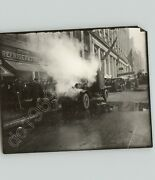 Burning Truck On 42nd Street And 6th Ave Nyc Midtown 1920s Wwii Press Photo