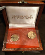 1971 Bahamas 2-coin Gold Coin Set With Box