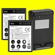 2x 5250mah Extra Battery For Samsung Galaxy Siii S3 Sph L710 External Charger Us