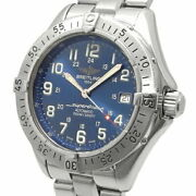 Mens Used Breitling Super Ocean Date Self-winding Automatic A17340 Blue Dial