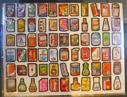 1980 Topps Wacky Packages Series 4 Rerun Uncut Sheet 66 Card Garbage Candy Back