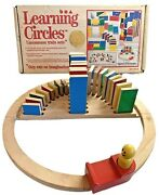 Rhyme And Reason Toys , Squares And Rectangles , Vintage Wooden Train Set - 1989