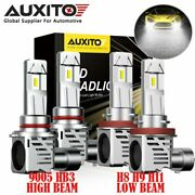 Auxito H11 9005 Led Headlight Bulb High Low Beam 6500k For Toyota Tundra 07-2013