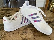 Adidas X Farm Rio Grand Court Leather Floral Women's Size 7.5 Like New