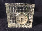 Fabulous Waterford Crystal Paperweight Clock 5.5andrdquox5.5andrdquox2andrdquoover 5 Poundsworks
