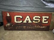 Vintage Case Farm Machinery Sign 1920-30and039s Eagle Gas Oil Soda Cola Patina 72x30