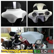 Detachable Batwing Fairing 6x 9 Speakers Stereo For Harley Road King 1994-2021