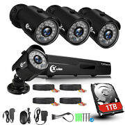 Xvim 1080p Cctv Outdoor Security Camera Home System Hdmi Dvr With 1tb Hard Drive