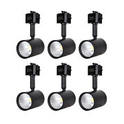 6 Pack Led Track Lighting Heads Compatible With Single Circuit J Type Track -b