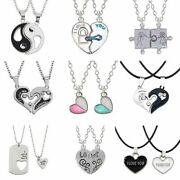 Relationship Necklaces Couple Necklace Set Pendant Matching Cute Heart Bf Gf New