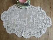 Vintage Mary Card Crochet Lace Cloth / Table Centre  The Garden No 68
