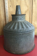 Antique Fuel Funnel With Screen 12.5andrdquo Tall By 8.5andrdquo Wide Tractor Farm Equipment