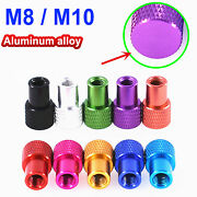 M8 M10 Knurled Thumb Nuts Blind Hand Grip Knobs Aluminum Alloy For Model Pc Case