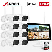 Security Camera System Outdoor 3mp Wifi Wireless 8ch Nvr 13nvr Audio 1/2tb Pan