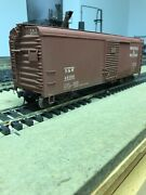 Nj Custom Brass O Scale Box Car Single Door Rounded Roof Lettered Nandw 46100