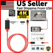 4k Usb-c Type C To Hdmi Hdtv Tv Cable Adapter For Samsung Galaxy S20 Note 9 Lot