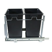 Sliding Double Pull Out Waste Bin Container Base Kitchen Cabinet Trash Kitchen