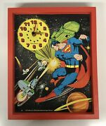 Vintage Superman Clock - 1978 By New Haven For Super Time Inc - 12 X 15 Ex