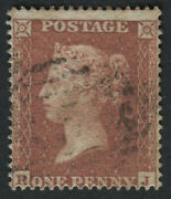 Sg21 1d Red Brown Rj Plate 13 - Scarce Plate V Fine Cat Andpound600
