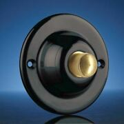 Wired Surface Mounted Push 63mm Black With Brass Button Model 4206bks