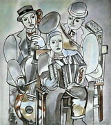 Fernand Leger Amazing Mixed Media On Paper Art Drawing Signed. Cubism
