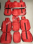 Ford F150 Xl Or Xlt Supercrew Or Supercab Custom Leather Seat Covers Red Black