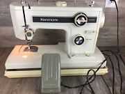 Sears Roebuck And Co Kenmore Sewing Machine,foot Pedal And Case Model 148.15210