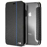 Bmwandreg M Series Carbon Fiber Effect With Stripe Wallet Case For Iphone Xs Max Blue