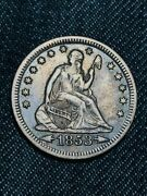1853-o 25c Arrows And Rays Liberty Seated Quarter - Super Quality