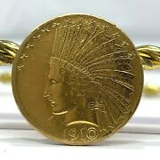 Us Indian Head 10 Gold Coin 1910