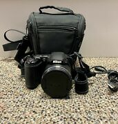 Nikon Coolpix L340 Digital Camera 30285691 With Charger And Soft Bag